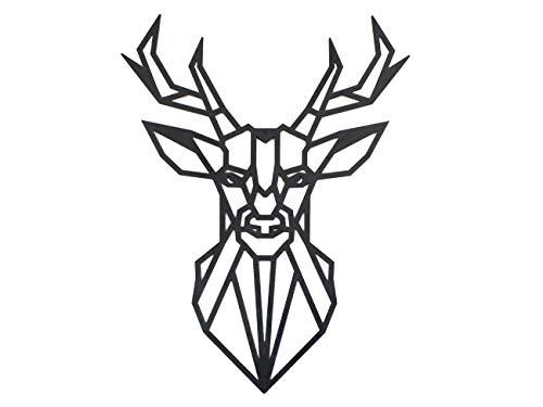 Figuras Geométricas Decorativas Cuadros de Animales Decoración Pared Animales Decoración Figuras Cabeza Animal Pared Adornos Salon Modernos (Ciervo)