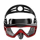 Máscara de buceo 3 ventana Máscara de buceo ancha y grande Máscara de buceo para adultos Snorkel Equipo impermeable para aplicar a jóvenes mayores de 15 años