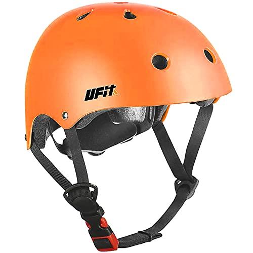 Kids Helmet Boys and Girls Safety Adjustable Comfortable Helmet for Roller, Scooter, Skateboard, Bicycle… (orange, M(8-13years old))