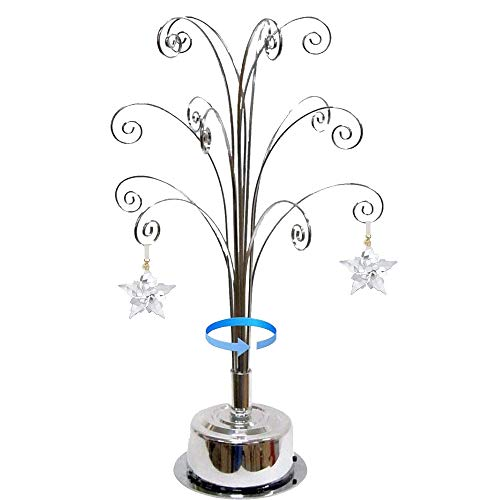 HOHIYA Ornament Display Tree Stand for Swarovski Christmas Ornament 2021 Annual Gift 16.75inch Silver