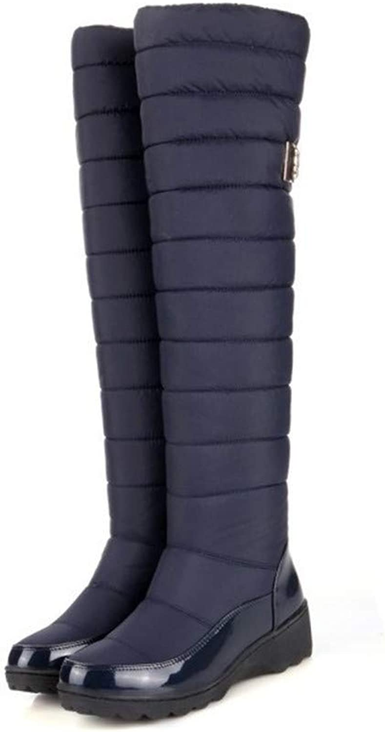 Top Shishang Winter Down Over The Knee Wedge a Warm Casual Snow Boots Martin Boots Female