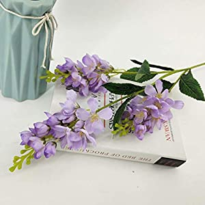 ZYL-YL Artificial Flower Home Decor Artificial Flower Violet Hyacinth Delphinium Ceiling Decoration (5Pcs)