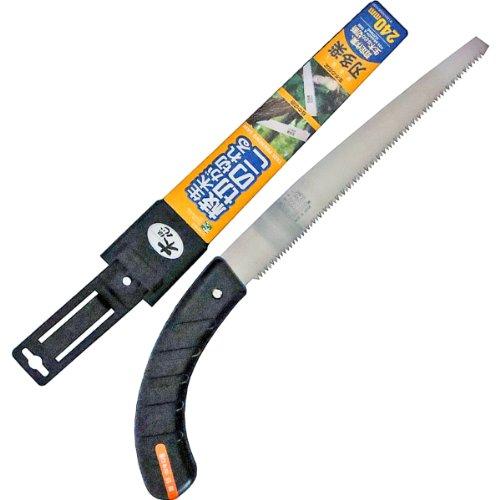 石鋸工業 サヤ付替刃式鋸 刃多楽 枝切のこ 240mm