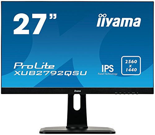 iiyama Prolite XUB2792QSU-B1 A 68,5cm (27Zoll) IPS LED-Monitor QHD (DVI, HDMI, DisplayPort, USB3.0, Ultra-Slim-Line, FreeSync, Höhenverstellung, Pivot) schwarz