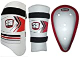 SS Cricket Protection Combo : Thigh Guard, Arm Guard, Abdominal Guard - Men's Size