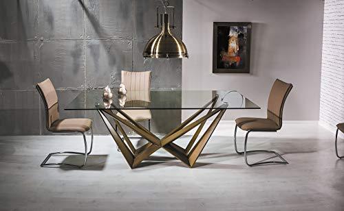 Sofa Dreams Eettafel Aston modern met glasplaat