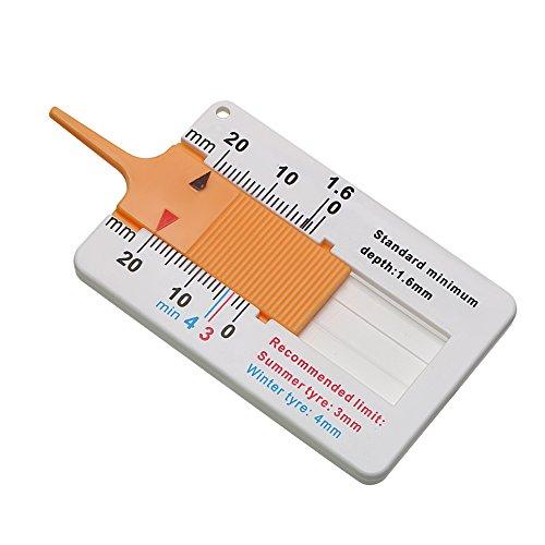 CuiGuoPing Autoreifen-Profiltiefenmesser, Messschieberausführung, Kunststoff, 0-20 MM