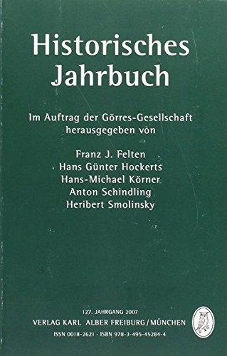 Historisches Jahrbuch: 127. Jahrgang 2007
