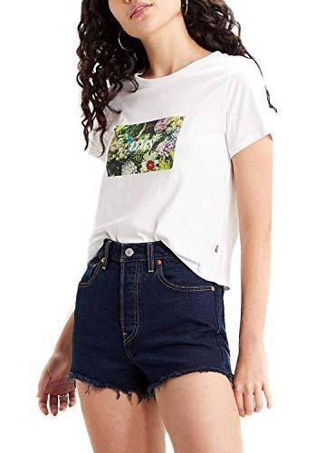 Camiseta Levis Flowers Blanco para Mujer L