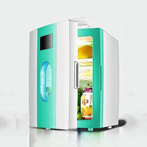 NYGJMNBX Mini-koelkast, draagbaar, compact, draagbaar, 100% freon-free en milieuvriendelijk, inclusief stekker voor huis en auto-oplader