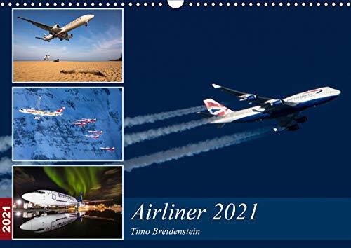 Airliner 2021 (Wandkalender 2021 DIN A3 quer)