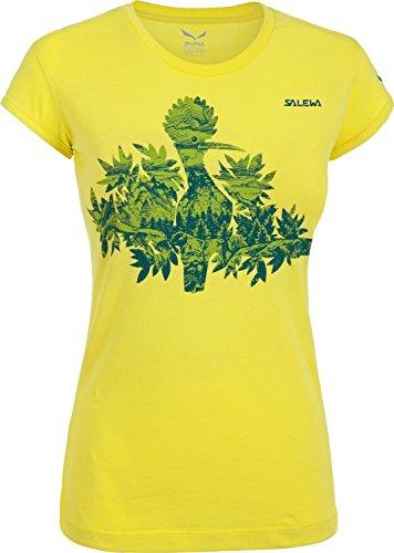 Salewa Chemisier pour Femme The Nugget cO w t-Shirt à Manches Courtes pour Homme Large Jaune/Noir - Motif Mimosa