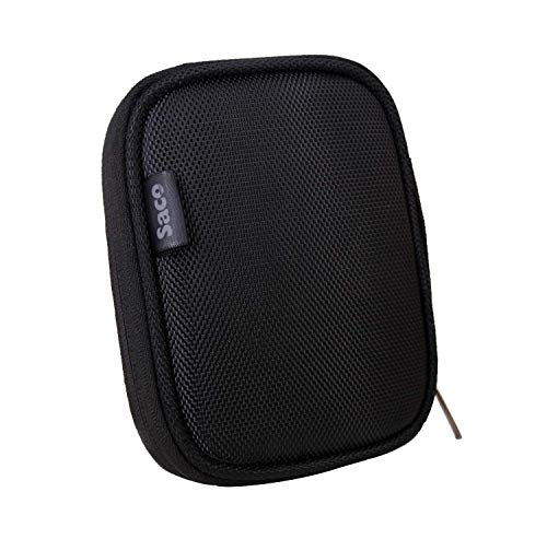 Saco Shock Proof External Hard Disk Bag for Portable External Hard Drive with Mobile Device Backup USB 3.0 (Black)