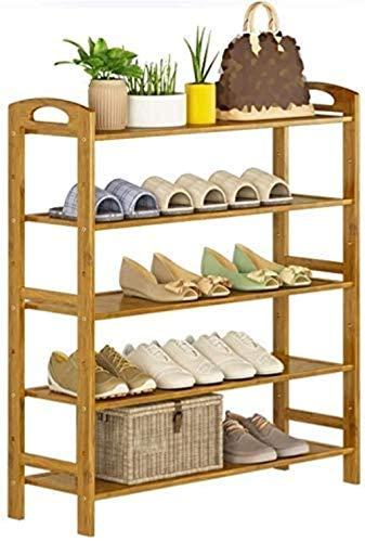 Zapatero de 5 Plantas de bambú Zapatero 88 cm de Altura del Estante del Zapato Bastidores de Entrada/baño/Sala de Estar y Pasillo de Entrada Taburete Cambiar Zapatos (Size : 70)