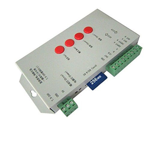Centralina SPI Magic Color Led RGB Controller T1000S Con SD IC WS2801 WS2811