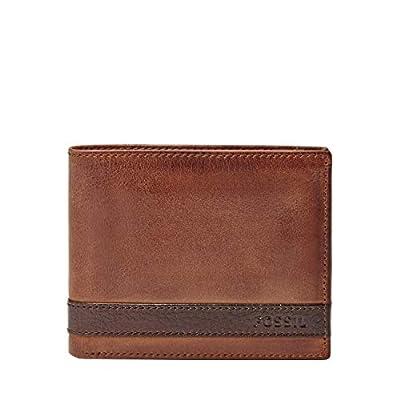 Fossil Men's Flip ID Bifold Wallet, Brown, One Size