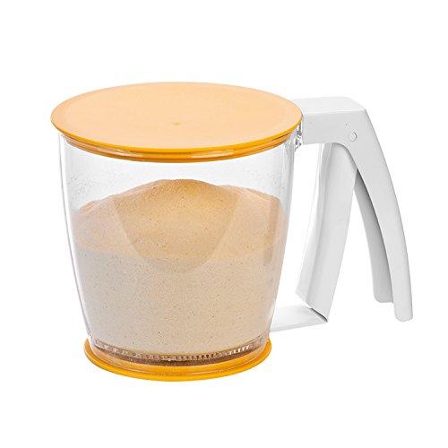 Tescoma Einhand Sieb mit Deckel, für Mehl oder Puderzucker, aus Kunststoff BPA Frei