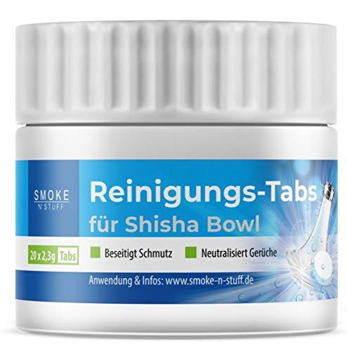 Smoke \'n\' Stuff Reinigungs-Tabs für Shisha Bowl und Bürste; zur Pflege und Schmutzbeseitigung (Reinigungs-Tabs)