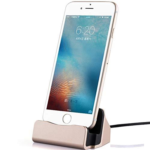 Shot Case Base de Carga para iPhone 11 Apple Lightning, Cargador de Escritorio (Negro)