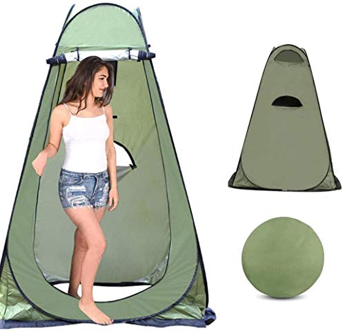 HEG Pop Up Toilet Tent Shower Tent Camping Toilet Tent Changing Room Rain Shelter With Window With Carrying Bag, Portable Outdoor Camping Sun Shelter Camp Toilet Changing Dressing Room Tents