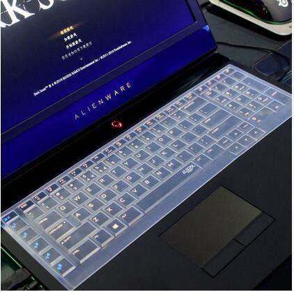 casebuy Ultra Dünn Silikon Tastatur Schutzfolie Cover Haut für Dell Alienware 18(2013Version), Alienware 17R2R3(2015/2016Version), Alienware M17(2015Version) Gaming Laptop farblos