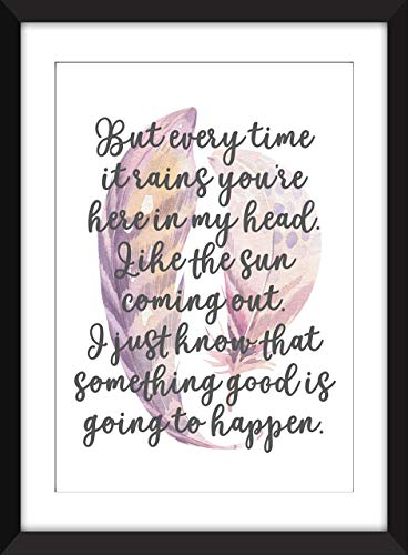 Kate Bush Cloudbusting Lyrics - Unframed Print/Ungerahmter Druck