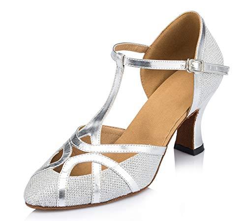Minitoo ,  Damen Jazz, modern , Silber - Glitter-Silver - Größe: 35