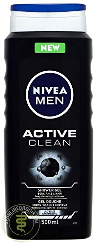 Nivea Active Clean Shower Gel, 500 ml