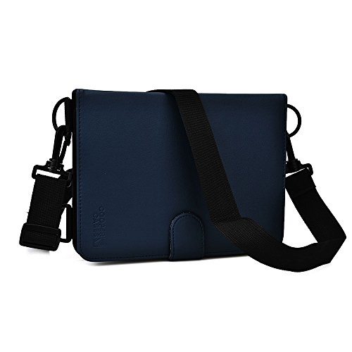 Cooper Magic Draagschouderriemhoes voor Samsung Galaxy Tab 4 7.0 | Travel Rugged Shock Proof Protective, Verstelbare riem, Vegan Leather (blauw)