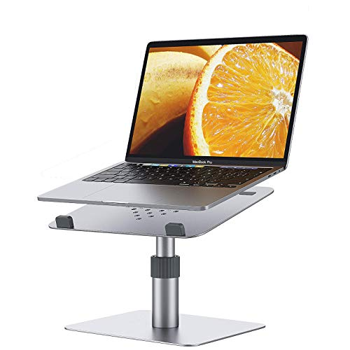 TREWQ Adjustable Laptop Stand for Desk, Aluminum Laptop Riser,Adjustable Height 360° Rotating Ergonomic Computer Stand Notebook Holder,(10-16 Inches)