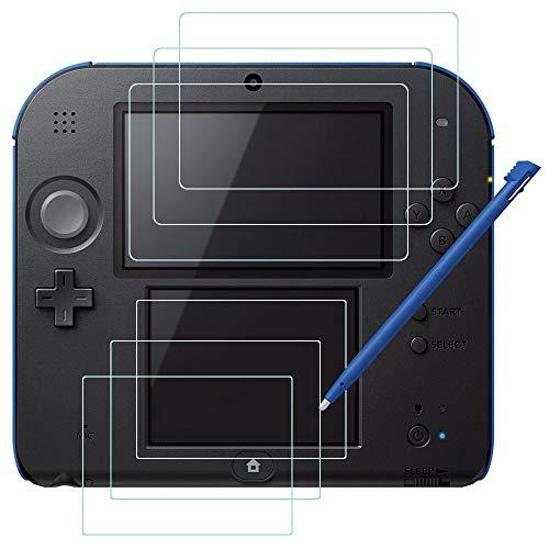 Pellicola Protettiva per Nintendo 2DS con Stilo, AFUNTA 3 Pack (6 Pz) HD Pellicola di PET per Schermo Superiore e Inferiore, con 1 Stylus Penna