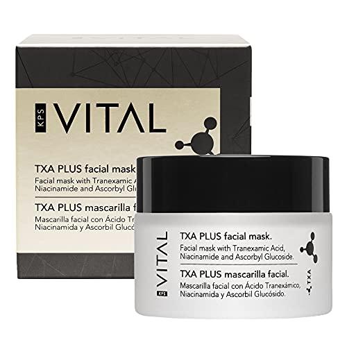 KPS VITAL 【PREMIUM】 TXA PLUS Mascarilla Facial Mujer | Hidratante | Limpiador Puntos Negros | Crema Exfoliante Facial, 50 ml
