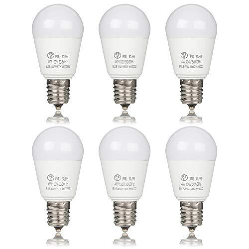 led電球 e17 40W形 440lm ミニクリプトン電球 昼光色 6500K 440LM 密閉器具対応 断熱材器具対応 40形 6個セット (昼光色)