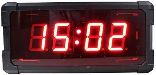 LED Reloj De Pared Digital De Cuenta Atrás Del Reloj Electrónico De Entrenamiento Físico Interno Con Función De Control Remoto, Conveniente For El Hogar Y La Oficina (color: Negro, Tamaño: 42X20X7CM)