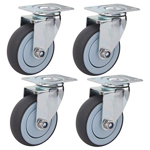 Caster Wheels with Brakes,Heavy Duty Castors Swivel Wheel,63MM/75MM/100MM/125MM,120kg per Wheel,Replace The Casters for Large Furniture and Equipment (Color : Swivel, Size : 75mm)