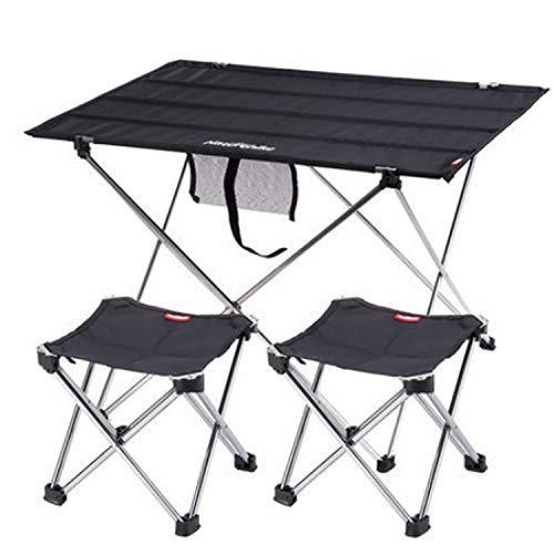 Freetrekker Mesa de camping plegable con 2 sillas de camping plegables, ligeras,...
