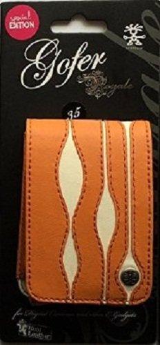 Crumpler Gofer Royale 35 Special Edition - Funda de piel para cámara fotográfica, color naranja y blanco