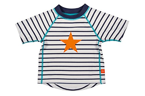 Lässig Splash & Fun Short Sleeve Rashguard / Baby Badeshirt / UV-Schutz 50+ boys, S / 6 Monate, sailor
