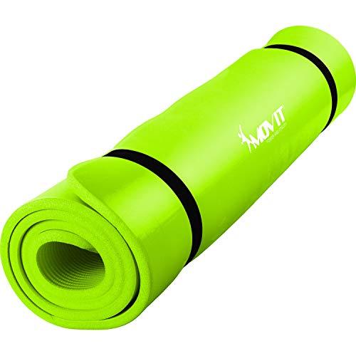 Movit XXL Pilates Gymnastikmatte, Yogamatte, phthalatfrei, 190 x 60 x 1,5cm, Hellgrün