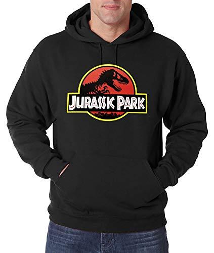 Youth Designz Jurassic - Felpa con cappuccio da uomo Nero XXL