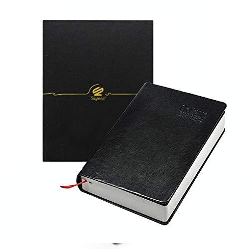 SAYEEC Notizbuch, klassischer Vintage-Stil, weicher Kunstledereinband, 320Blatt 640Seiten, unbedruckt 215*145mm Black 215*145mm 360 Sheets Lined Paper
