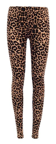 Fast Fashion Damen Leggings Plus Size Tier Leopard Zebra Tie-Dye- Schädeldruck Viskose