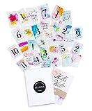 Baby Meilensteinkarten für Junge und Mädchen - Perfektes Geschenk zur Geburt, Schwangerschaft, Babyparty und das 1.Lebensjahr - Baby Erstausstattung