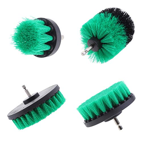 Best Review Of menolana 2/3.5/4/5'' Scrub Brush Drill Attachment Kit, Drill Powered Cleaning Brushes