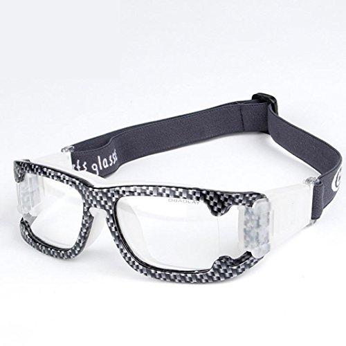 OPEL-R Neue Fußball, Basketball, professionelle Sportbrille, intensive Übung im freien Schutzbrille uv400, Belüftung und Anti-Fog, PC-hochwertige Materialien und TR90 Rahmen , carbon fiber