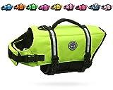 VIVAGLORY Dog Life Jacket Size Adjustable Dog Lifesaver Safety Extra...