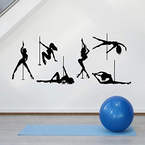 HGFDHG Arte Creativo de Moda Dancing Pole Wall Vinyl Art Mural Pool Room Decoración