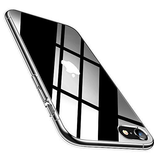 Whew Hülle Kompatibel mit iPhone 6/6S, Anti-Vergilbung TPU Transparent Silikon Ultradünn Weich Schutzhülle, Kratzfest Stoßfest Durchsichtige Handyhülle Kompatibel mit iPhone 6/6S