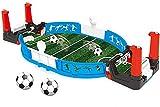 LASULEN Mini Escritorio de Juego de fútbol de Mesa, Mini porterías de fútbol de Mesa, Juego de fútbol de Mesa para niños, Juego de fútbol con Dos Pelotas de Entrenamiento de Juguete de fútbol