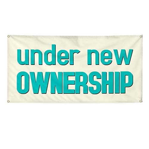 Vinyl Banner Multiple Sizes Under New Management Business F Business Outdoor Weatherproof Industrial Yard Signs Forest Green 4 Grommets 24x36Inches